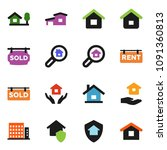 solid vector ixon set   house... | Shutterstock .eps vector #1091360813