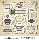 vector set of calligraphic... | Shutterstock .eps vector #109136198