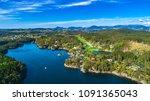 aerial bergen city view. bergen ...   Shutterstock . vector #1091365043