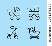 outline carriage icon set such...   Shutterstock .eps vector #1091376824