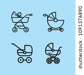 outline carriage icon set such...   Shutterstock .eps vector #1091376890