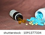 multicolored medicines... | Shutterstock . vector #1091377334