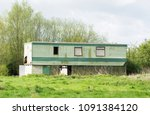 Old Static Caravan Isolated In...