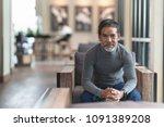 portrait of happy mature man...   Shutterstock . vector #1091389208