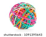 Colored Rubber Ball Isolated On ...