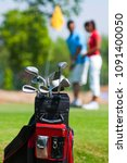 image of golf clubs | Shutterstock . vector #1091400050