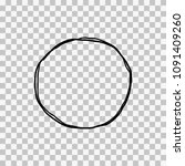 hand drawn sketched circle... | Shutterstock .eps vector #1091409260