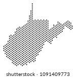 dotted west virginia state map. ... | Shutterstock .eps vector #1091409773