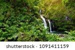 upper waikani falls also known... | Shutterstock . vector #1091411159