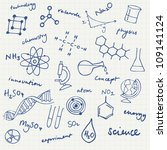 science icons doodles vector set | Shutterstock .eps vector #109141124