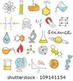 science icons doodles vector set | Shutterstock .eps vector #109141154