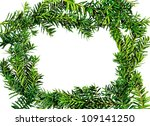 frame yew. isolated on white. | Shutterstock . vector #109141250