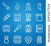 cooking icon set   outline... | Shutterstock .eps vector #1091417519