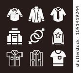 masculine icon set   filled... | Shutterstock .eps vector #1091419244