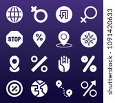 signs icon set   filled... | Shutterstock .eps vector #1091420633