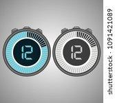 electronic digital stopwatch.... | Shutterstock .eps vector #1091421089