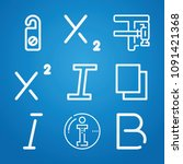 signs icon set   outline... | Shutterstock .eps vector #1091421368