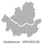 dot seoul city map. vector... | Shutterstock .eps vector #1091422133