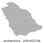 dot saudi arabia map. vector... | Shutterstock .eps vector #1091422136