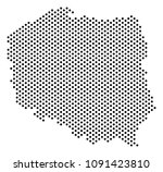dotted poland map. vector...   Shutterstock .eps vector #1091423810