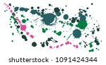 watercolor paint stains grunge... | Shutterstock .eps vector #1091424344