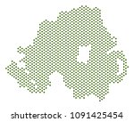 dotted northern ireland map.... | Shutterstock .eps vector #1091425454