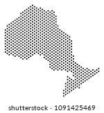 pixel ontario province map.... | Shutterstock .eps vector #1091425469