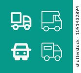 lorry related set of 4 icons...   Shutterstock .eps vector #1091432894