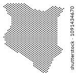 dotted kenya map. vector... | Shutterstock .eps vector #1091434670