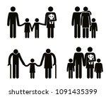 group of family members avatars ... | Shutterstock .eps vector #1091435399