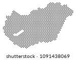 dot hungary map. vector...   Shutterstock .eps vector #1091438069