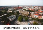 Stock photo beautiful super wide angle summer aerial view of hannover germany lower saxony seen from 1091445578