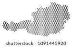 dot austria map. vector... | Shutterstock .eps vector #1091445920