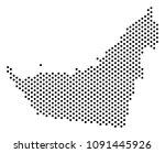 dotted arab emirates map.... | Shutterstock .eps vector #1091445926