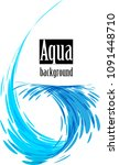 splash water element isolated...   Shutterstock .eps vector #1091448710