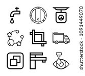 tool related set of 9 icons... | Shutterstock .eps vector #1091449070