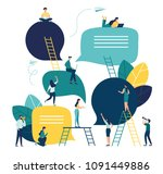 vector flat illustration  a...