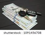 dollars money cash on black... | Shutterstock . vector #1091456708