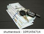 dollars money cash on black... | Shutterstock . vector #1091456714