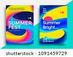 summer festival electronic... | Shutterstock .eps vector #1091459729