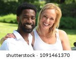 beautiful love couple in the... | Shutterstock . vector #1091461370