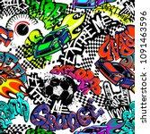 abstract seamless grunge... | Shutterstock .eps vector #1091463596