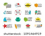 summer vacations   collection... | Shutterstock .eps vector #1091464919