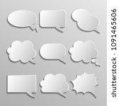 blank empty white speech... | Shutterstock .eps vector #1091465606