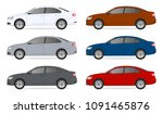 set of car template for car... | Shutterstock .eps vector #1091465876