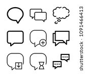 chat related set of 9 icons... | Shutterstock .eps vector #1091466413