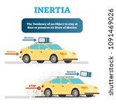 inertia tendency demonstration... | Shutterstock .eps vector #1091469026