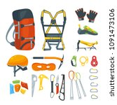 climbing equipment  vector... | Shutterstock .eps vector #1091473106
