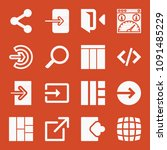 filled set of 16 web icons such ... | Shutterstock .eps vector #1091485229