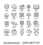 cloud computing. internet... | Shutterstock .eps vector #1091487719